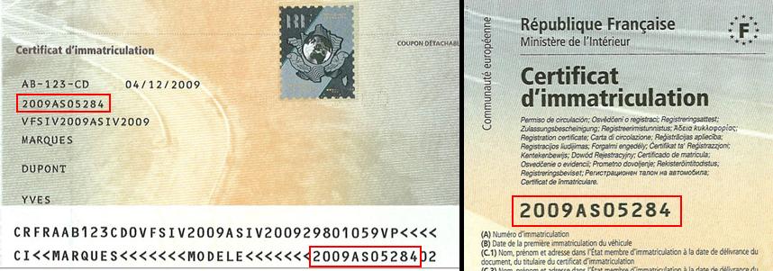 numéro formule carte grise Immatriculer.fr : votre tarif carte grise
